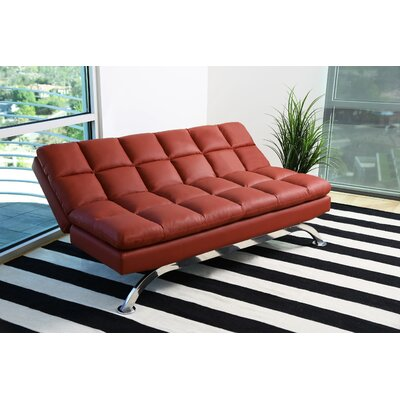Romans Euro Lounger Convertible Set Color: Red