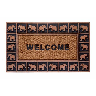 Elephant Border Doormat