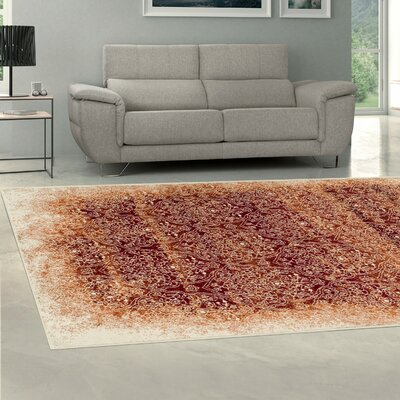 Iddings Orange Area Rug Size: Rectangle 5 x 8