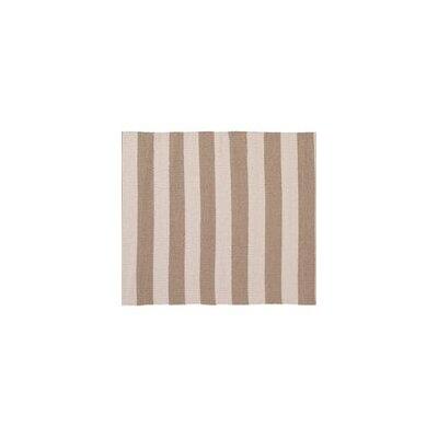 Awning Stripe Hand-Woven Beige/Cream Indoor/Outdoor Area Rug