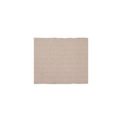 Herringbone Hand-Woven Beige/Cream Indoor/Outdoor Area Rug