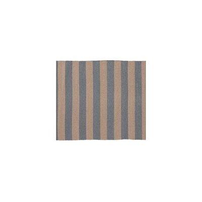 Awning Stripe Hand-Woven Beige/Gray Indoor/Outdoor Area Rug