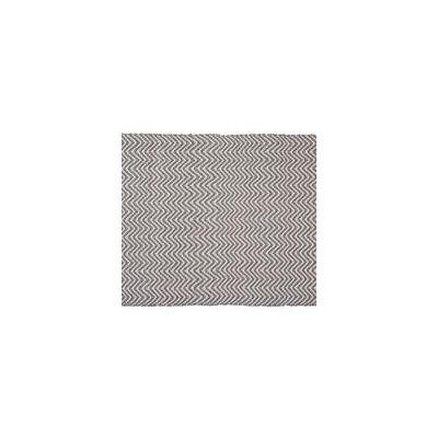 Herringbone Hand-Woven Gray/Cream Indoor/Outdoor Area Rug