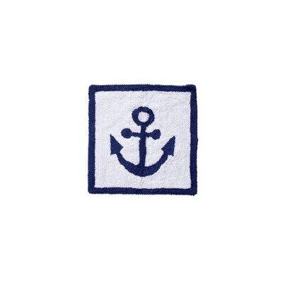 Anchor Hand-Woven White/Blue Area Rug
