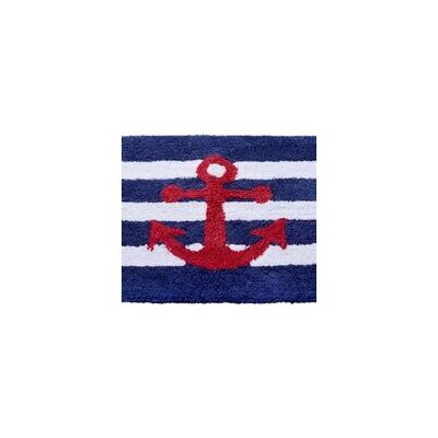 Anchor Stripe Bath Rug