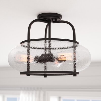 Braxton 3-Light Semi Flush Mount Color: Bronze
