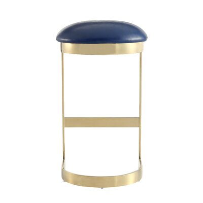 Larry 28.5 Bar Stool Color: Blue