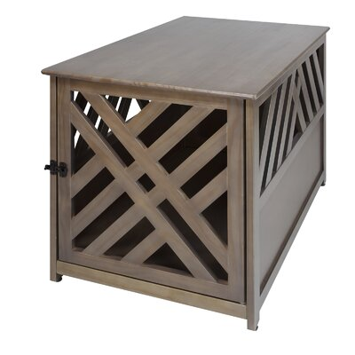 Marlatt Modern Lattice Pet Crate End Table