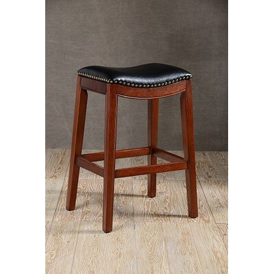 Dili Bar Stool Base Color: Cherry, Size: 29 H x 18 W x 17 D