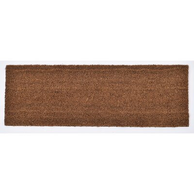 Sheltered Coir Coco Fiber Doormat Mat Size: Rectangle 010 x 26, Color: Natural