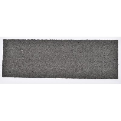 Sheltered Coir Coco Fiber Doormat Mat Size: Rectangle 010 x 26, Color: Gray