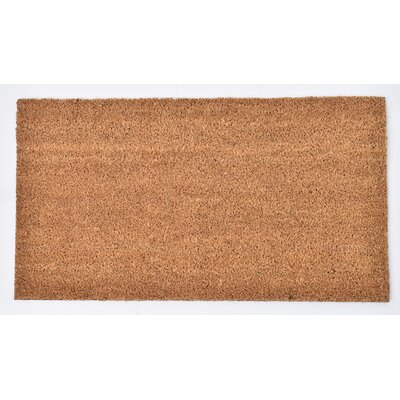 Sheltered Coir Coco Fiber Doormat Mat Size: Rectangle 11 x 02, Color: Natural