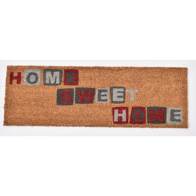 Sheltered Printed Home Sweet Home Coir Coco Fiber Doormat