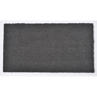 Sheltered Coir Coco Fiber Doormat Mat Size: Rectangle 11 x 02, Color: Gray