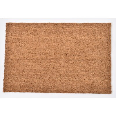 Sheltered Coir Coco Fiber Doormat Mat Size: Rectangle 14 x 02, Color: Natural