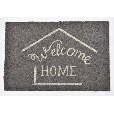 Sheltered Printed Welcome Home Coir Coco Fiber Doormat