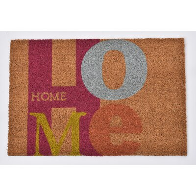 Sheltered Printed Home Coir Coco Fiber Doormat
