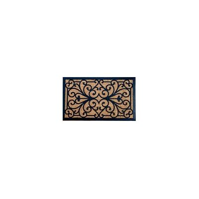Sheltered Sally Braided Coir Coco Rubber Doormat