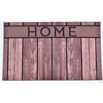 Outdoor Home Rubber Doormat Color: Brown