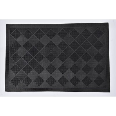 Outdoor Drew Checkerboard Rubber Doormat