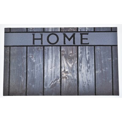 Outdoor Home Rubber Doormat Color: Gray