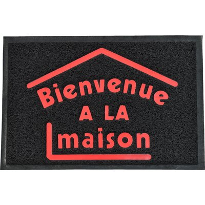 French Outdoor Printed Bienvenue A La Maison PVC Doormat
