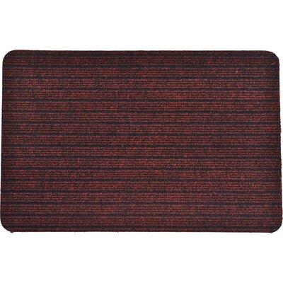 Chloe Outdoor Polypropylene Latex Doormat Color: Maroon