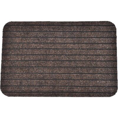 Chloe Outdoor Polypropylene Latex Doormat Color: Brown