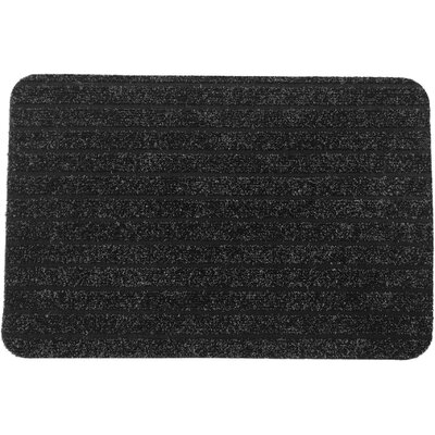 Chloe Outdoor Polypropylene Latex Doormat Color: Anthracite Gray