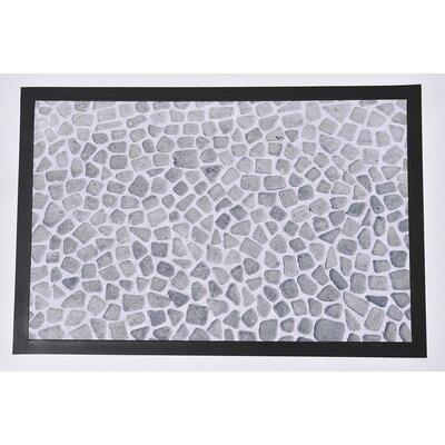 Indoor Printed Tiled Floor PVC Polyester Doormat