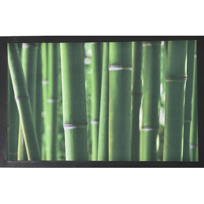 Indoor Printed Bamboo Sticks PVC Polyester Doormat