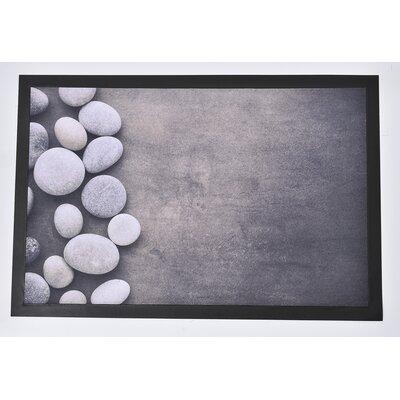 Indoor Printed Roundstone PVC Polyester Doormat