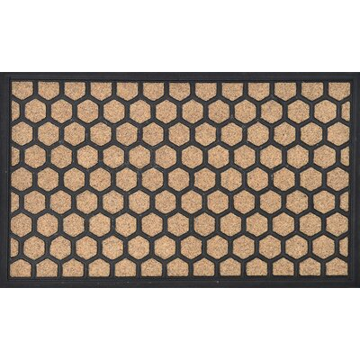 Sheltered Printed Hive Polyester Doormat