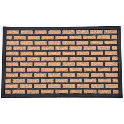 Sheltered Printed Brick Polyester Doormat