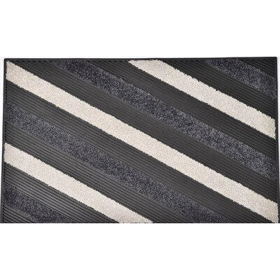 Sheltered Blake Nylon Rubber Doormat Color: Gray