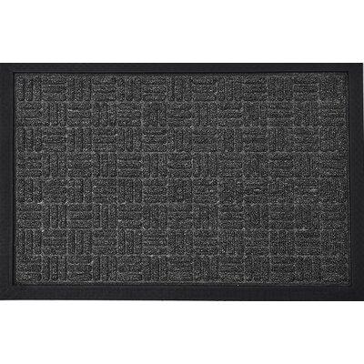 Yvan Outdoor Checkerboard Polypropylene Rubber Doormat