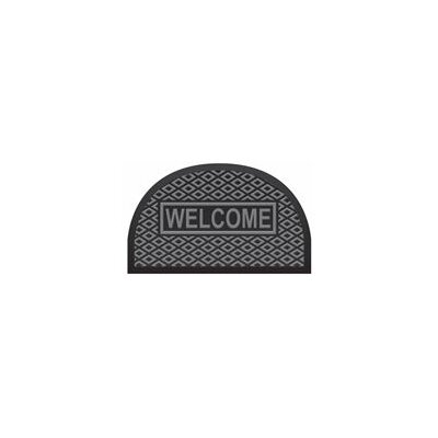 Outdoor Half Round Welcome Polypropylene Rubber Doormat