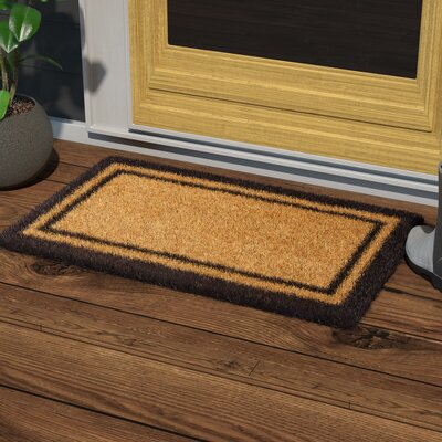 Alleffra Border Doormat Mat Size: Rectangle 110 x 3, Color: Black