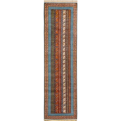 One-of-a-Kind Husby Hand-Knotted Wool Blue/Green Area Rug