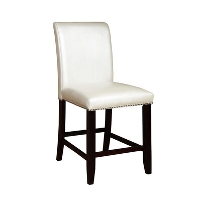 Whitcher 24 Bar Stool Upholstery: White