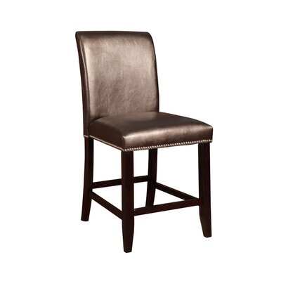 Whitcher 24 Bar Stool Upholstery: Dark Brown