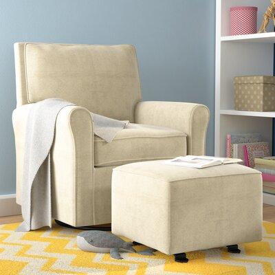 Barnwell Gliding Swivel Armchair Upholstery: Beige