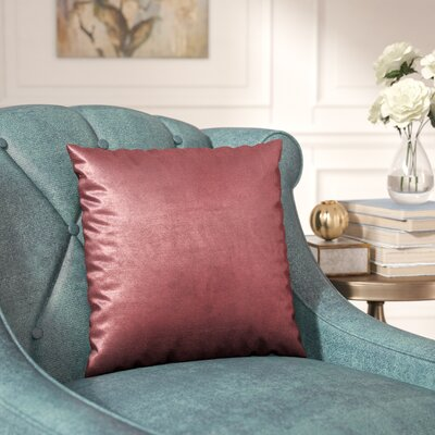 Renna Throw Pillow Size: 16 H x 16 W x 5 D, Color: Rose