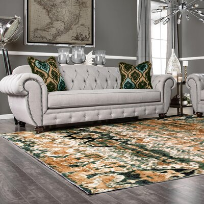 Crosslin Beige/Green Area Rug Size: Rectangle 8 x 10