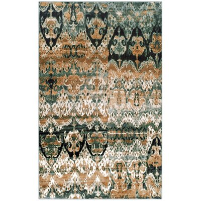 Crosslin Beige/Green Area Rug Size: Runner 27 x 8