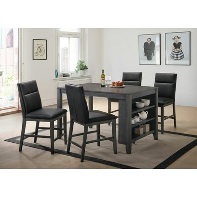 Oak Hill 5 Piece Pub Table Set