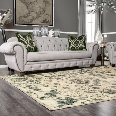 Draeger Ivory Area Rug Size: Rectangle 5 x 8