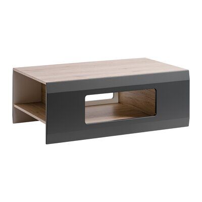 Spivey Coffee Table Table Top Color: Grafite, Table Base Color: White Mat