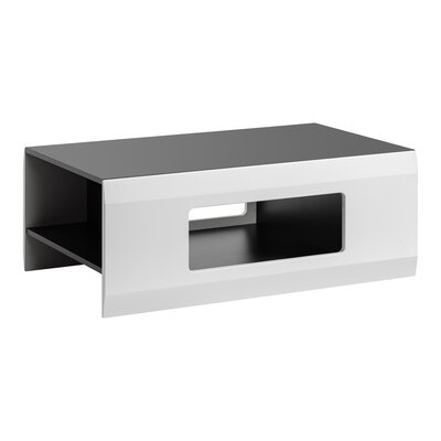 Spivey Coffee Table Table Top Color: Sand, Table Base Color: Grafite