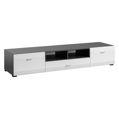 Spivey 80 TV Stand Color: Grafite/White Mat